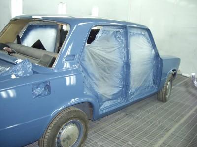Покраска советского автомобиля